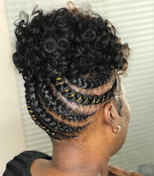 ladies Black hair updo hairstyles